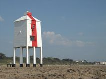 The lighthouse on legs. In Burnham-on-sea Stock Photos