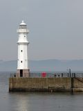 Lighthouse Leith. White Lighthouse in Leith royalty free stock photo