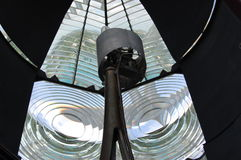 Lighthouse Lens. A fresnel lens at an historic lighthouse Stock Photo