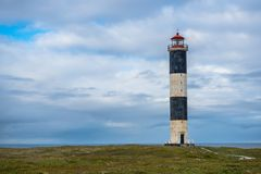 Lighthouse. On the beach in Russia Royalty Free Stock Image