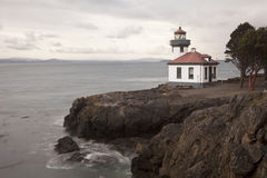 Lighthouse at Lime Kiln Point Royalty Free Stock Photo