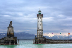 Lighthouse of Lindau at Lake Constance (Bodensee) Stock Photo