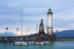 Lighthouse of Lindau at Lake Constance (Bodensee) Stock Image