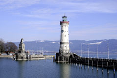 Lighthouse of Lindau in Lake Constance Stock Photography