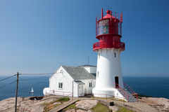 Lighthouse at Lindesnes Royalty Free Stock Photography