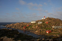 Lighthouse at Lindesnes Stock Images