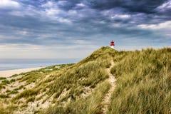 Lighthouse List Ost on the island Sylt Stock Image
