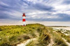 Lighthouse List Ost on the island Sylt Royalty Free Stock Photos