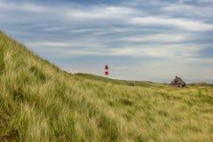 Lighthouse List Ost on the island Sylt Stock Images