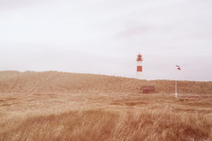 Lighthouse List West, Ellenbogen, Sylt, Schleswig-Holstein, Germany Stock Photo