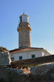 Lighthouse on a little island Lastovo. Lighthouse on a little island of Croatia Royalty Free Stock Photography