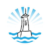 Lighthouse logo, vector Stock Photo