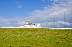 Lighthouse of Loop head cliffs, Ireland Royalty Free Stock Images