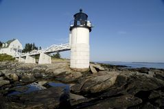 Lighthouse at Low Tide Stock Photography