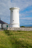 Lighthouse. The lower lighthouse at Nash Point on the south coast of Wales royalty free stock images