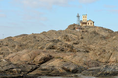 Lighthouse at Luderitz in Namibia Stock Photo