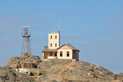 Lighthouse at Luderitz in Namibia Royalty Free Stock Photos