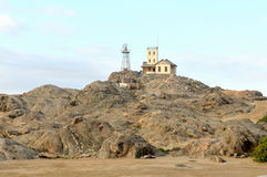 Lighthouse at Luderitz in Namibia Royalty Free Stock Photography
