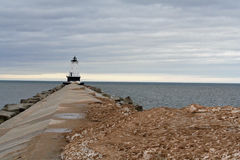 Lighthouse in Ludington MI Royalty Free Stock Photo