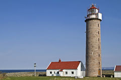 Lighthouse  Lysta Fyr Stock Photo
