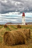 LIghthouse in Magdalen island in Canada Royalty Free Stock Photo