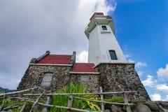 Lighthouse Mahatao Hill at Batan Island , Batanes Royalty Free Stock Photos