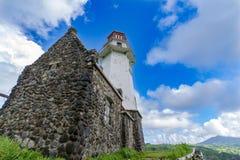 Lighthouse Mahatao Hill at Batan Island , Batanes Stock Photography