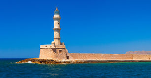 Lighthouse and main town quay panoramic view Royalty Free Stock Photos