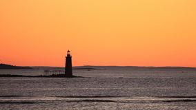 Lighthouse in Maine Royalty Free Stock Photo