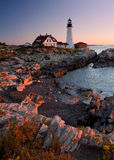 Lighthouse in Maine Royalty Free Stock Images