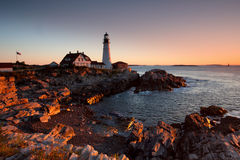 Lighthouse in Maine Stock Image