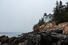 Bass Harbor Head Lighthouse royalty free stock photo
