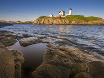 Lighthouse in Maine, USA Royalty Free Stock Image