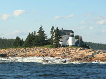 Lighthouse in Maine USA. Picture taken in the Atlantic Ocean, close to Bar Harbor Maine, USA Stock Images