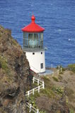 Lighthouse at Makapuu Point. Oahu, Hawaii Royalty Free Stock Images