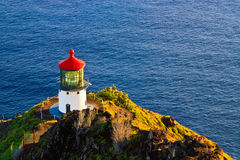 Lighthouse at Makapuu Point, Oahu Hawaii Stock Photography