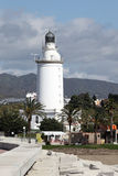 Lighthouse in Malaga Stock Photo