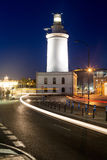 Lighthouse in Malaga, Andalusia, Spain. Stock Image