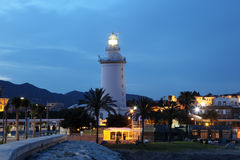 Lighthouse in Malaga Stock Photos