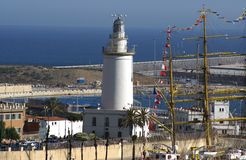 Lighthouse of Malaga, Spain Royalty Free Stock Image