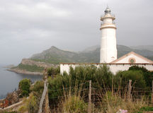 Lighthouse in Mallorca Stock Photography