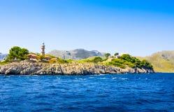 Lighthouse, Mallorca, Balearic island, Spain  Royalty Free Stock Photos