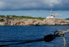 Lighthouse on Mallorca island royalty free stock images