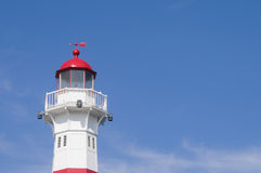 Lighthouse in Malmo, Sweden. A red and white lightouse in the harbor of Malmo, Sweden Royalty Free Stock Image