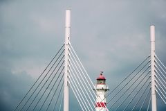 Lighthouse in Malmo, Sweden, city landscape. Lighthouse in Malmo, Sweden city landscape Stock Image