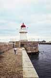 Lighthouse in Malmo, Sweden. Old Lighthouse in harbor, Malmo, Sweden Stock Photography