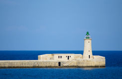 Lighthouse on Malta, Mediterranean stock image