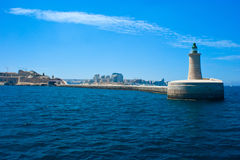 Lighthouse on Malta, Mediterranean Royalty Free Stock Photos