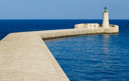 Lighthouse on Malta, Mediterranean sea Royalty Free Stock Photo
