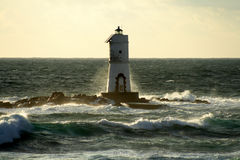 Lighthouse of Mangiabarche Royalty Free Stock Image